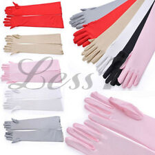 Fashion Costume GLOVES Satin Long Gloves Opera Wedding Bridal Evening Party