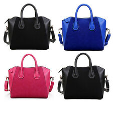 Fashion Women Lady Leather Smile Frosted Tote Purse Handbag Shoulder Shopper Bag