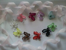 All Occasions embellishment craft stocking  wire glitter butterflies x 10