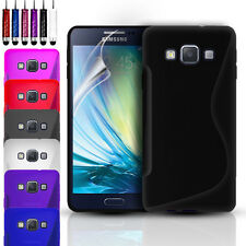 ULTRA THIN SILICONE GEL CASE COVER & SCREEN PROTECTOR FOR SAMSUNG GALAXY A3 A5