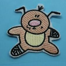 Pig Peg Iron on Sew Patch Cute Applique Badge Embroidered Animal Baby