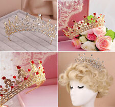Wedding Bridal Crystal Veil Tiara Crowns Rhinestone Queen Prom Tiara Headband