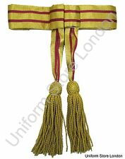 Sash Officer's Waist Belt Gold Maroon with Gold Tassels R197