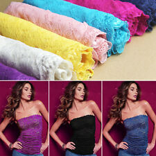 Brand Hot Women Fashion Strapless Clubwear Lace Tube Top Bandeau Stretch Ribbed