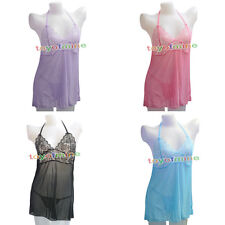 Sexy Women Lace Dress Lingerie Nightwear Underwear Sleepwear Babydoll + G String