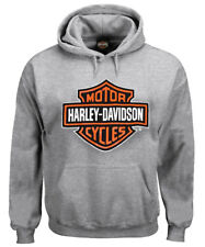 Harley-Davidson Men's Pullover Sweatshirt, Bar & Shield Hoodie, Gray 30296627