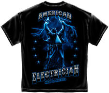American Electrician Building America T shirt Print Both Sides