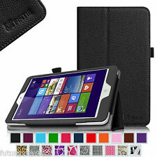 "Dragon Touch I8 8"" Quad Core Intel Windows Tablet PC Leather Case Cover Stand"