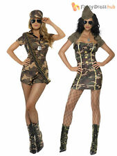 Ladies Army Girl Fancy Dress Costume Womens Military Soldier Camo Uniform Outfit