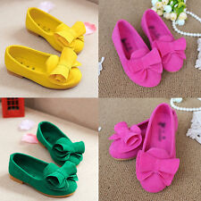 Autumn Girls Baby Child Dress Soft Princess Shoes Flats Bow Candy Color Loafer