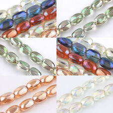 5/10Pcs Stone Shape Crystal Glass Loose Spacer Craft Beads 10x5mm