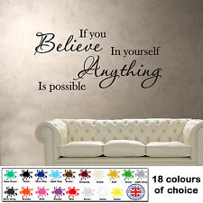 If You Believe In Yourself - Wall Sticker - Vinyl Art Decal - Inspiring Quote