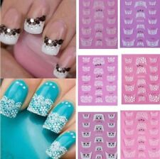 Charm 3D Transfer Lace Design Nail Art Stickers Manicure Nail Polish Decals Tips