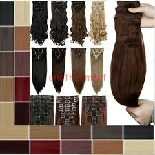 """US 26"""" THICK DELUXE Full Head CLIP IN HAIR EXTENSION 2015 Best selling Hairpiece"""