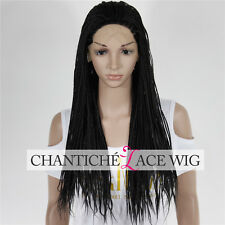 Synthetic Hair Braided Lace Front Wigs For Black Women Heat Resistant Custom