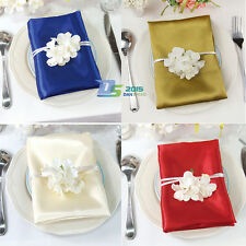 "Square Satin Napkin Pocket Handkerchief Hanky 20"" Wedding Party  Decor Colorful"