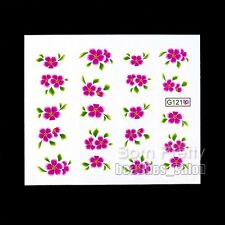 1Sheet Floral Flower Pattern Nail Art Manicure Water Decals Transfers Sticker