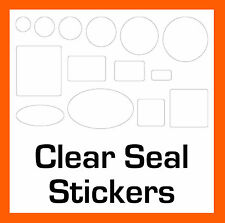 Packing Box Permanent Transparent Clear Security Seal Stickers Sticky Labels