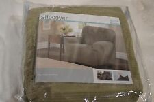Slipcover STRETCH MAYTEX COLLINS RIBBED 4 PIECE RECLINER CHAIR Dusty Moss