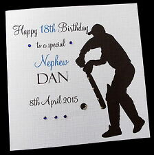 Personalised CRICKET Birthday Card Dad Brother Son Husband Uncle Brother-in-law