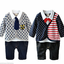 Newborn One-piece Baby Boy Clothes Romper Suit Kids Bodygrow Jumpsuit Outfit Set