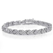 1.00ct TDW Diamond Miracle Set Tennis Bracelet