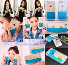 Floating Rubber Swim Cute Duckes 3D Blue Water Hard Case For iPhone 5/5s6/6plus