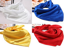 New Lady Men Mini Scarve Neckerchief Silk Spinning Scarves Smooth Shawl Gifts
