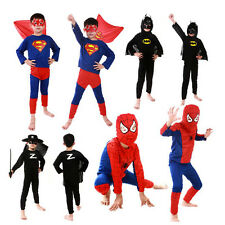 "Kinder Kostüm""Spiderman & Superman""Party Outfit Halloween Suit Kids"