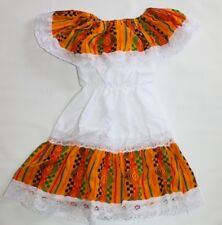 ASSORTED COLORS GIRLS MEXICAN GYPSY PEASANT LACE DRESS CINCO DE MAYO COSTUME 2T