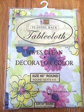 Vinyl Tablecloth With Flannel Back In Decorator Color