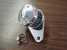 CHROME CRANKCASE BREATHER FOR HARLEY DAVIDSON BIG TWIN & XL SPORTSTER 1975 & UP