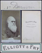 CHARLES DARWIN-1870s-ORIGINAL PORTRAIT/CDV/CABINET CARD/SCIENCE/PHOTOGRAPH/PHOTO