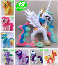 My Little Pony G4 30cm Soft Plush Doll Toy Fluttershy Applejack Twilight Sparkle