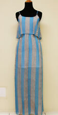 Sexy! womens blue cool summer sleeveless long maxi dress S M L