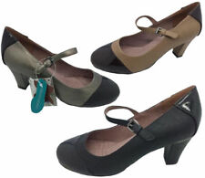 Ladies Shoes Step on Air Sambol Black Tan Pewter Multi Heels Shoe Size 6-11