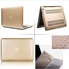 Champagne Gold Rubberized case+Keyboard cover+Screen Protector For Apple Macbook