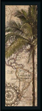 Exotic Destination II Tropical Palm Tree Framed Art Print Wall Décor Picture