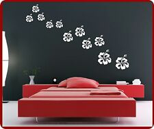 Wall Tattoo Hibiscus Hibiscus Wall Stickers Flower Hawaii Hibiscus Flower Bloom