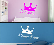 Wall Tattoos Wall Stickers small Prince Princess Crown Small crown Children Glue