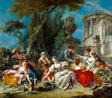 "Francois Boucher : ""The Bird Catchers"" (1748) — Giclee Fine Art Print"