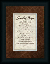 Family Prayer by Stephanie Religious Sign Framed Art Print Wall Décor Picture