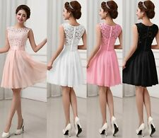 Women's Evening Formal Cocktail Wedding Bridesmaid Prom Gown Mini Bodycon Dress