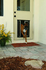 Plexidor Premium DOOR Mounted Silver Pet Doors in 4 Sizes