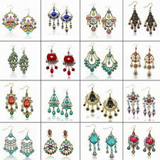 Vintage Chandelier Acrylique Bohemian Fantaisie Tassel Dangle Boucles d'oreilles