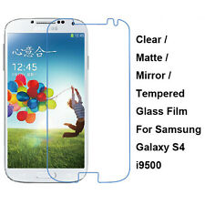 Tempered Glass / Clear/Matte/Mirror Screen Protector For Samsung Galaxy S4 i9500