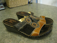 Womens SPRING STEP TAMARA Wedge Sandals Size 41 / 9.5 - 10 VERY GOOD CONDITION
