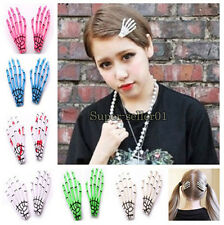 1Pcs Hot Punk Rock Devil Skeleton Skull Hand Claw Hair Clip Barrette Accessories