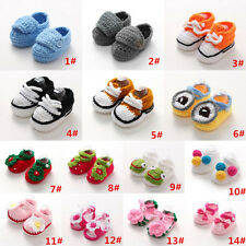 Handmade Baby Infant Boy Girl Crochet Knit Socks Crib Shoes Sandal Slippers 0-6M