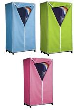 Single Canvas Wardrobe Pink Blue Green Canvas Wardrobe Cupboard Clothing Storage
